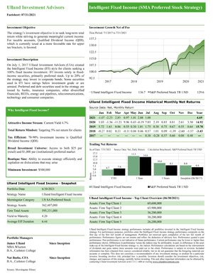 Intelligent Fixed Income Fact Sheet